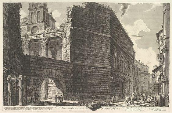 Foro di Nerva, Piranesi, acquaforte, 1756