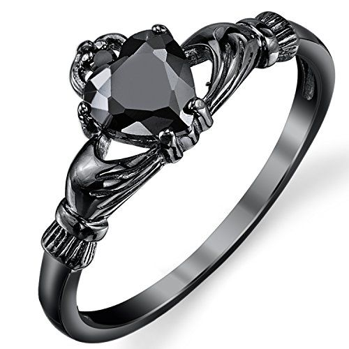 Black Sterling Silver Irish Claddagh Friendship & Love Ring Heart Ring with Black Cubic Zirconia SZ 4 Metal Masters Co. http://smile.amazon.com/dp/B00MJC6TE8/ref=cm_sw_r_pi_dp_Xk-Dub19545V8