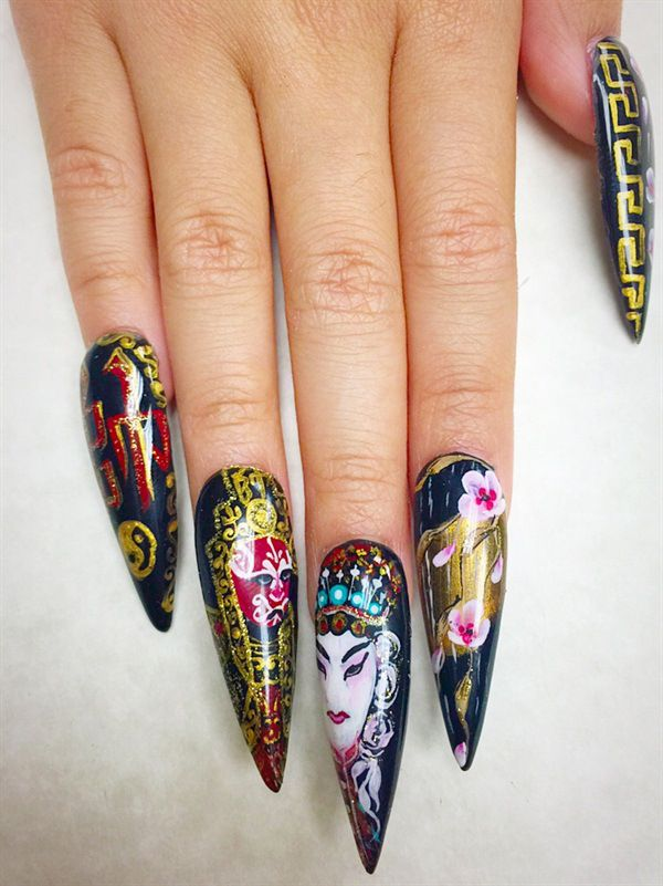 111 best Chinese New Year Nail Art Inspiration images on Pinterest ...