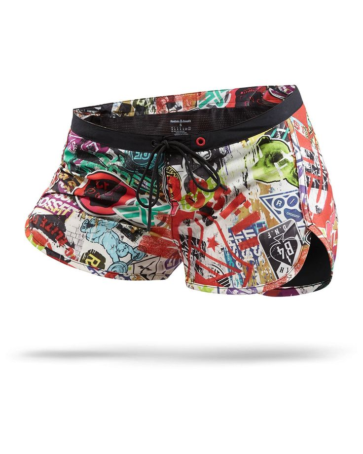 Women Reebok CrossFit Recycled Woven Training Short Print