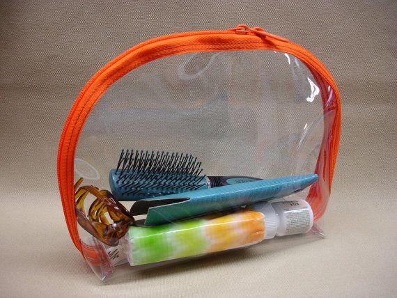 Clear Toiletry Bag Clear Quart Size Bag Zip Vinyl by Patzbag