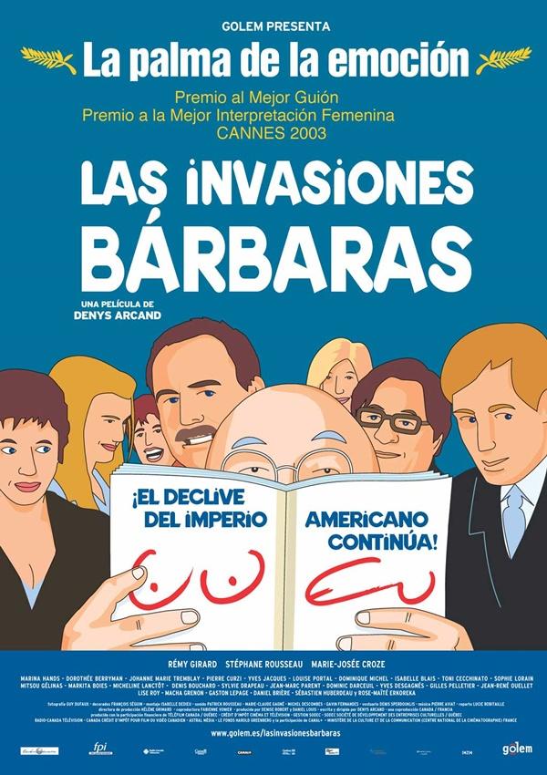Las invasiones bárbaras (2003) Canadá. Denys Arcand. Drama. Comedia - DVD CINE 437