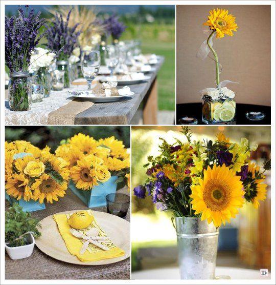 fleurs mariage champêtre provencal