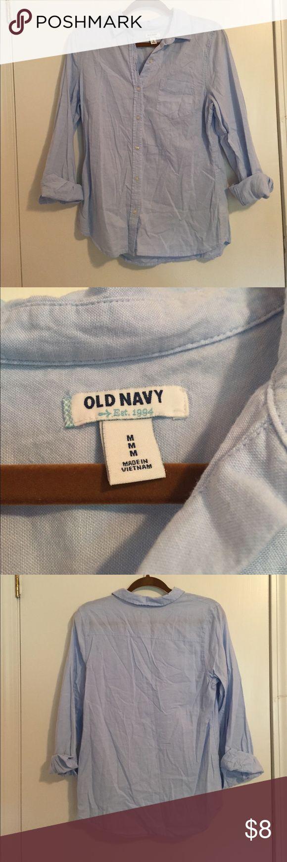 Light blue oxford shirt Light blue size M oxford shirt Old Navy Tops Button Down Shirts