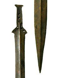 Épée pistiliforme du type 'Atlantique'. Age du bronze. Donges. Loire-Atlantique
