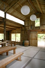 Staglands, Upper Hutt, Wellington. Fantastic, rustic barn nestled in native bush. Potentially too cold for a winter wedding? Ceremony on site, photos on site, reception on site. Barn is $80 per hour plus other various charges, affordable.