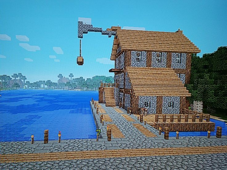 Image result for simple boat house minecraft | minecraft ...