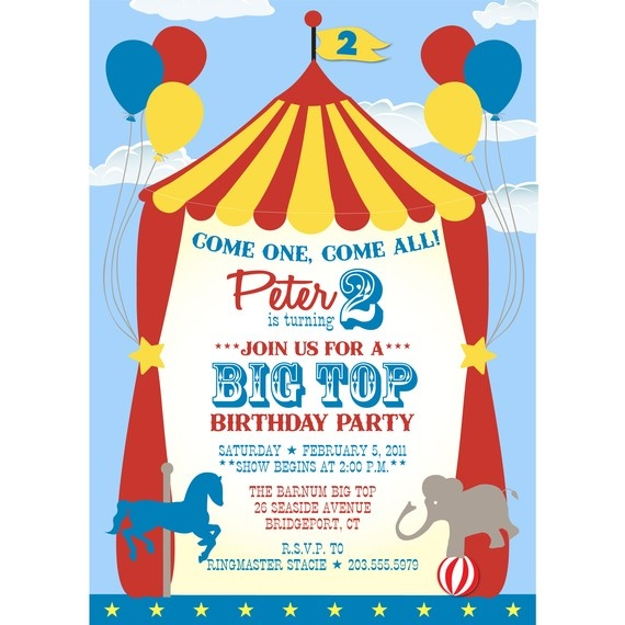 271 best Carnival\/Circus\/Fairground Party images on Pinterest - circus party invitation