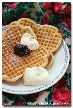 Blueberry waffles for Breakfast