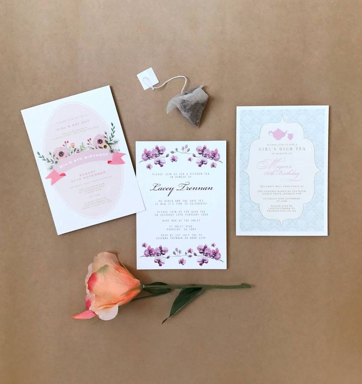 Just a few kitchen tea invitations!