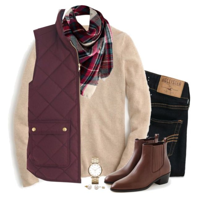 J.Crew with blanket scarf & ankle boots