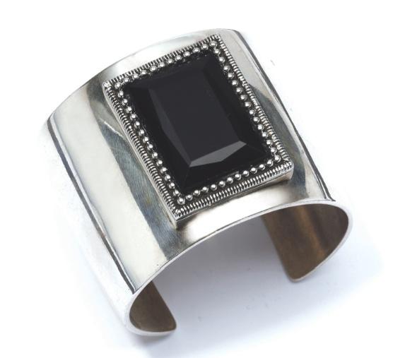 A jet black crystal bracelet for a simple striking statement.