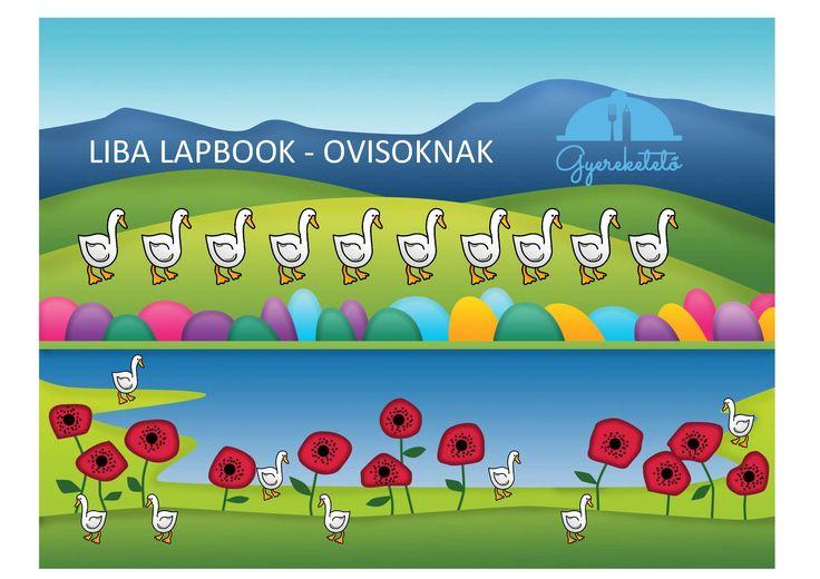 Márton nap alkalmával egy Liba lapbook-ot készítettem az ovisoknak.