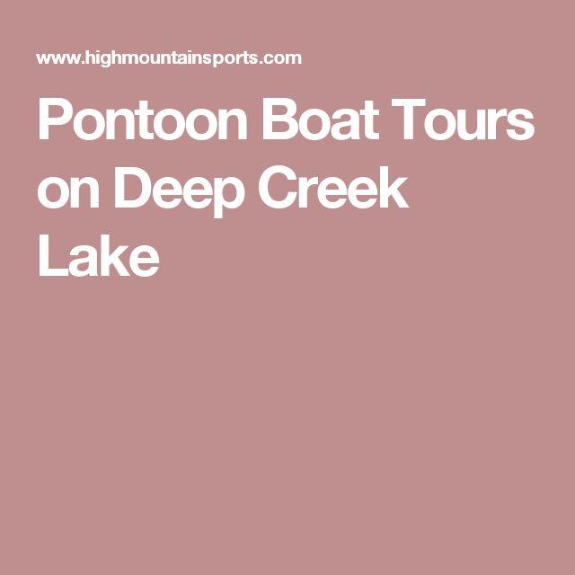 Pontoon Boat Tours on Deep Creek Lake