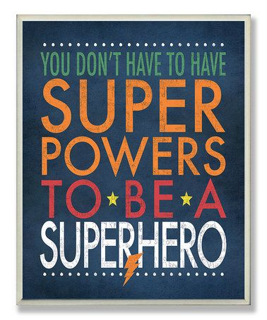 Another great find on #zulily! 'Superhero' Wall Art by The Kids Room by Stupell #zulilyfinds