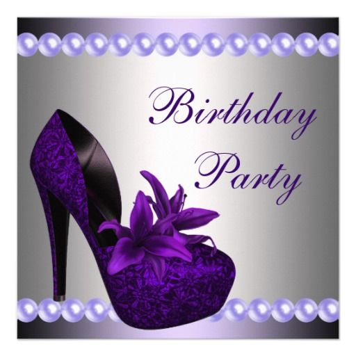 404 best images about Purple Black Birthday Party Invitations on – Purple Party Invitations