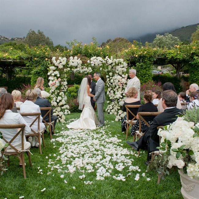 Lush And Green Outdoor Wedding Ceremony // Susan Bordelon