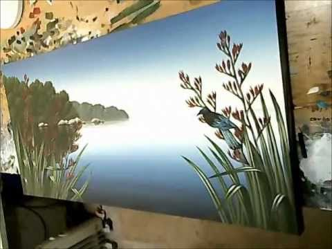 Timelapse - Acrylic Seascape Painting on Canvas