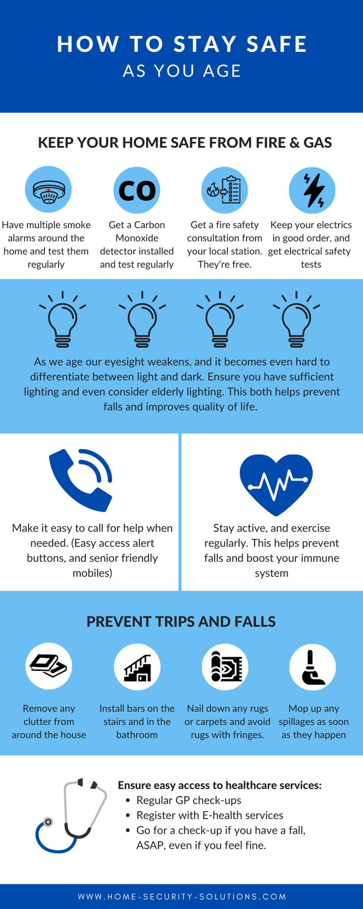 A home safety checklist for seniors. We all age, ensure
