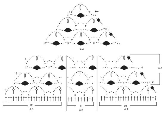 """Frost Flowers - Gehaakte DROPS omslagdoek met kantpatroon van """"Air"""". - Free pattern by DROPS Design"""