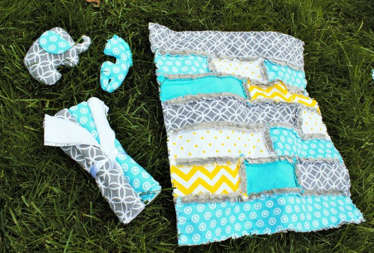 Aqua and Yellow Baby Gift Sets! by BabyBazerk on Etsy