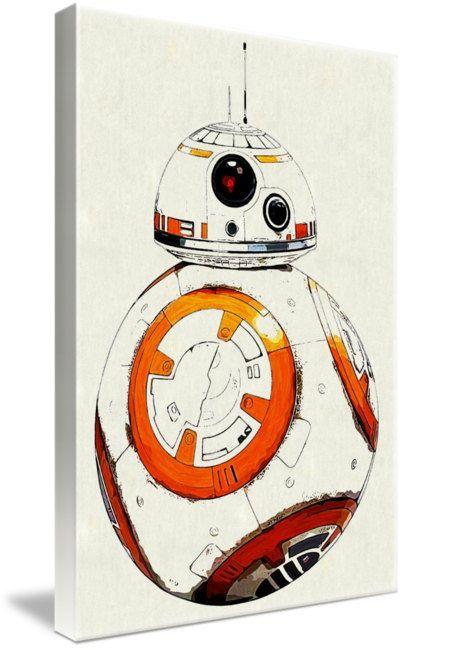 BB-8 Star Wars Art Framed Canvas Wall Art Huge Print A1