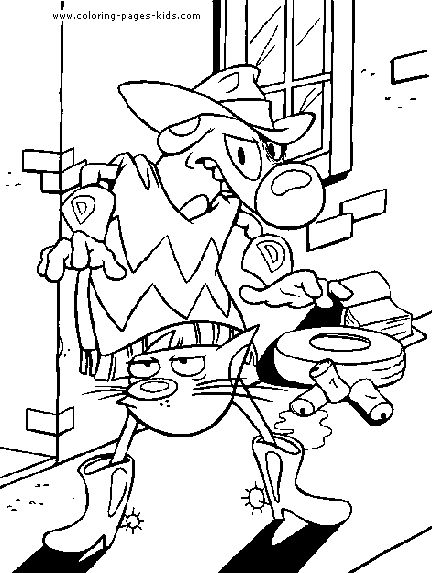 cartoon character halloween coloring pages - photo#13