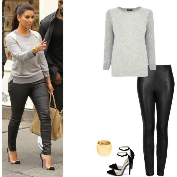Kim Kardashian by kimslookforless on Polyvore featuring polyvore, fashion, style, Warehouse, Topshop, Catherine Stein, Liliana, clothing, look and kimkardashian