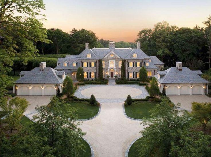 Beautiful Stone Mansion W/6-car Garage. #HomesOfTheRich