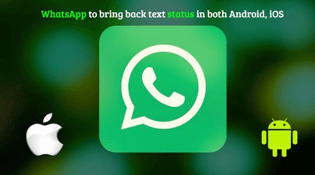 #WhatsApp to bring back #text #status in both #Android, #iOS https://xtechnotips.blogspot.com