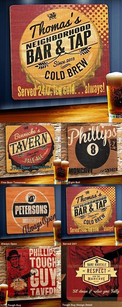 Personalized Wood Tavern