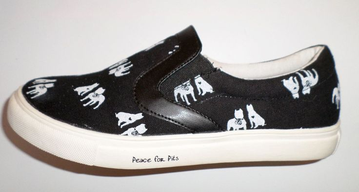 American Pit Bull Terrier Slip On Tennis Shoes
