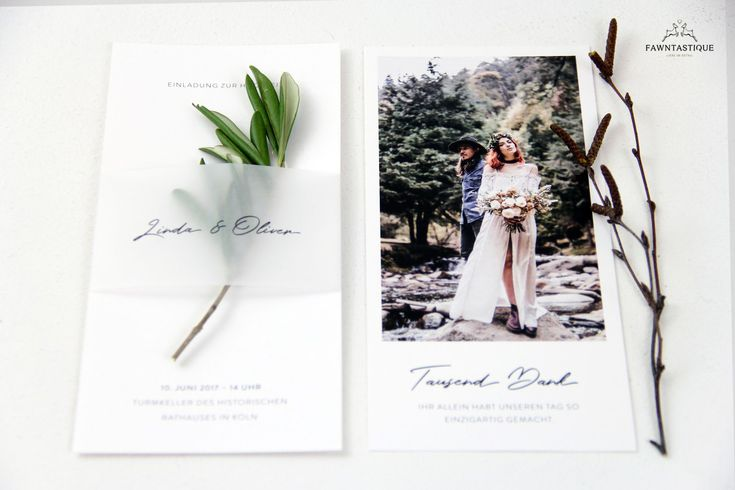 Clean and Green Wedding Stationary. The transparent band gave the wedding invitation a special touch. #fawntastique