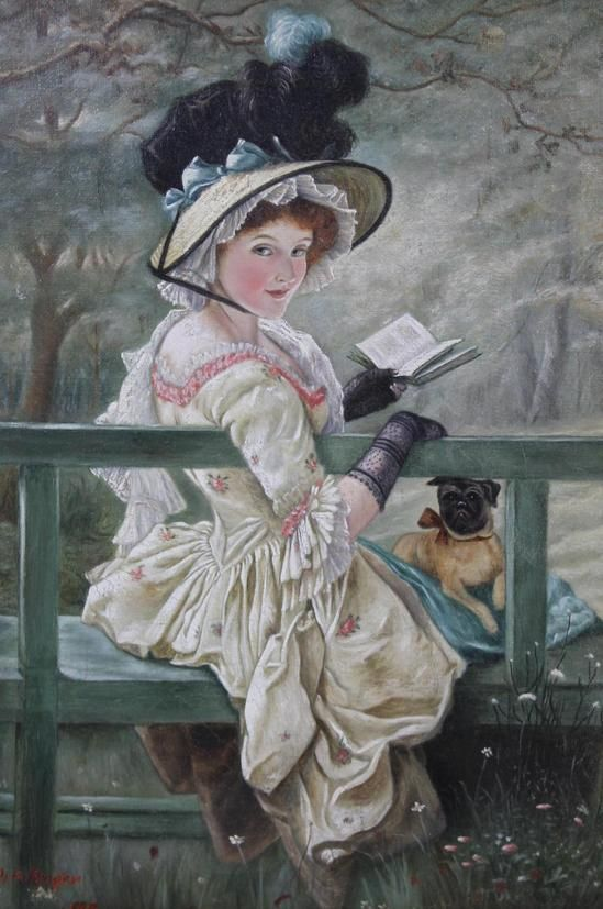 Vintage Paintings Of Women 143 best Old-ti...