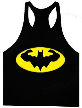 Batman Mens Workout Tank Top T-Shirt Stringer Muscle Racerback Golds Gym Bodybuilding Tops by CrownzOfficial on Etsy