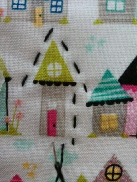 Hand quilting little houses is sew wonderful!