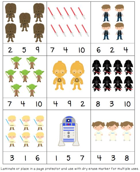 Star Wars Day! May the 4th be with you! Fun printables for an easy, quick activity.  Skills: numbers, letters 