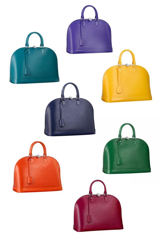 Louis Vuitton Alma Bags get colorful!