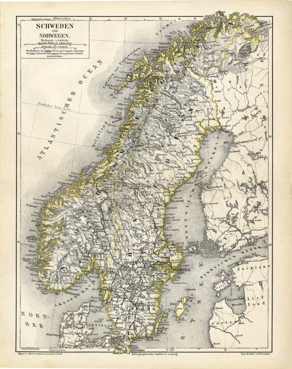 Best Maps Images On Pinterest Antique Maps Old Maps And - Norway map to print
