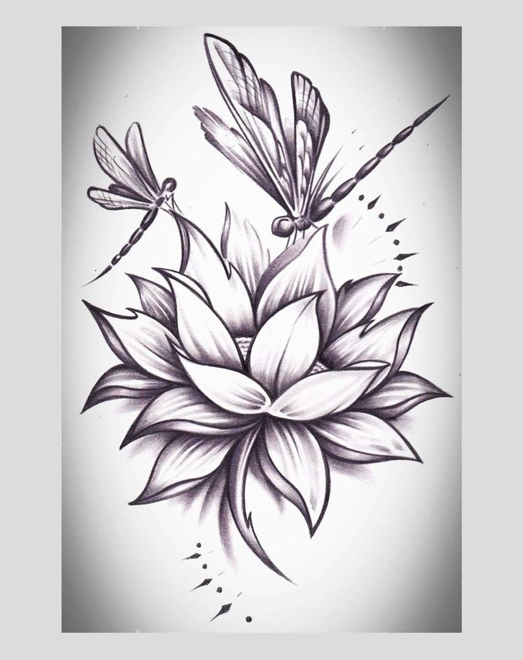 I would love to add dragonflies like this to my lotus #dragon #tattoos #tattoo