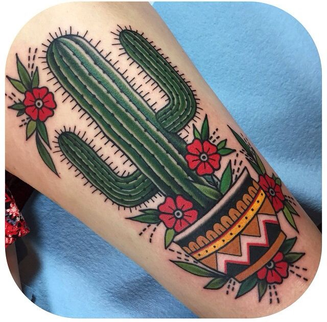 Cactus Becca Genné-Bacon The End Is Near/Hand of Glory Tattoo Brooklyn New York