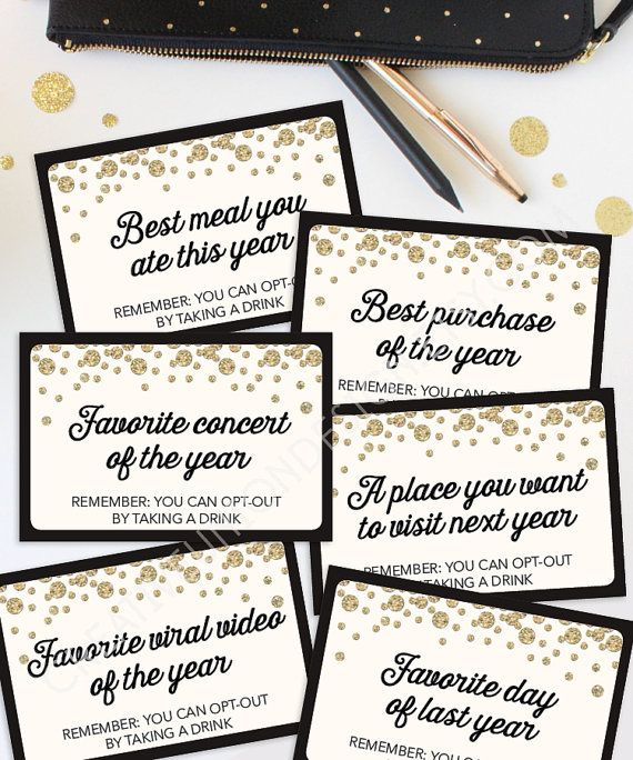 New Years Eve Party Game  - Best Memories Game - New Years Eve Ideas by CreativeUnionDesign
