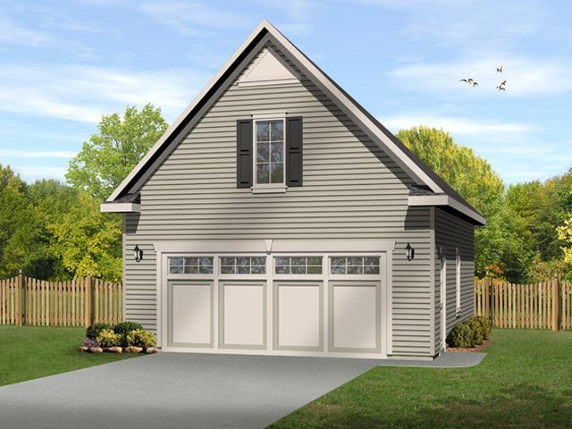 Two car garage plan with loft.