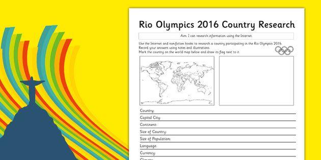 Rio 2016 Olympics Country Factfile - rio olympics, 2016 olympics, country, factfile, fact file