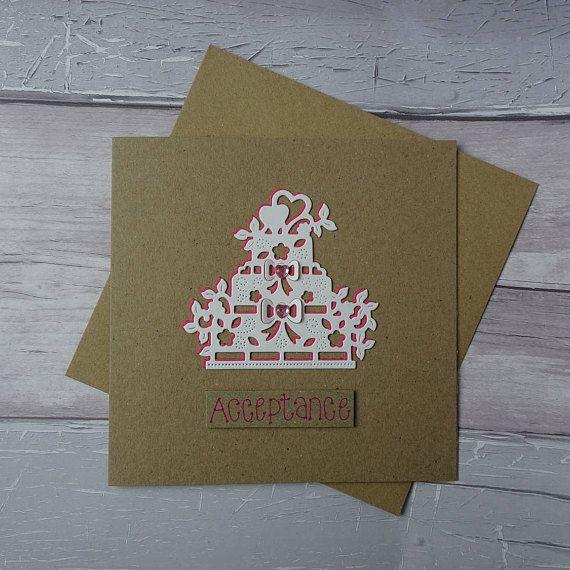 Wedding RSVP card Wedding acceptance card Handmade