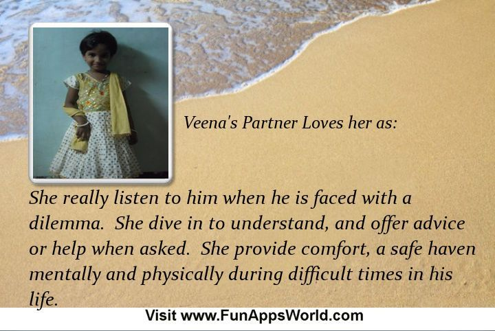 Check my results of Why your Partner Loves You? Facebook Fun App by clicking Visit Site button