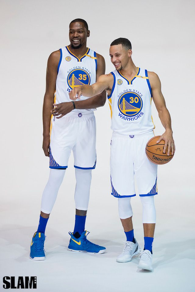 Kevin Durant and Stephen Curry for SLAM magazine