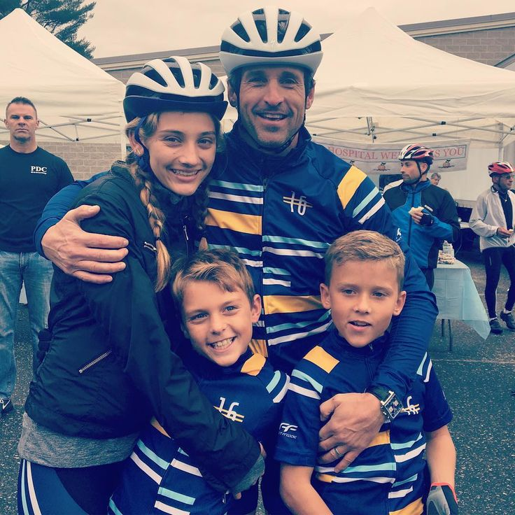 Patrick Dempsey and his children