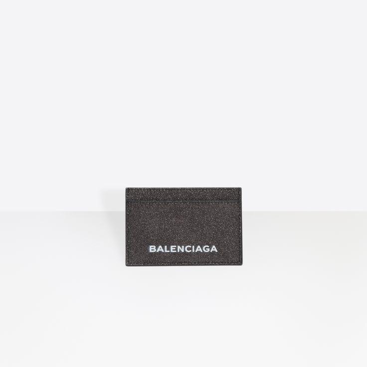 Balenciaga Glitter Essential Single Card   LILAS   Women's Essential Accessory