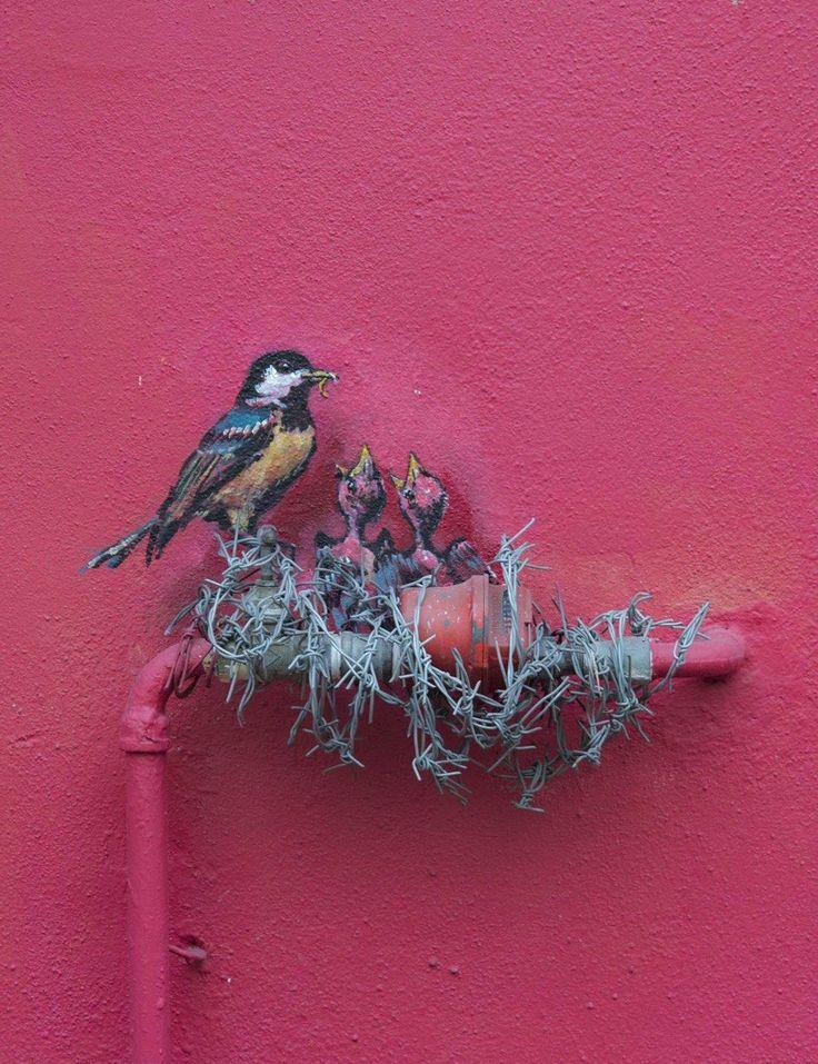 "veryprivateart: "" Street art by Ernest Zacharevic  """